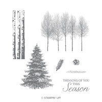 Winter Woods Wood-Mount Stamp Set