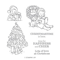 Happiness & Cheer Wood-Mount Stamp Set